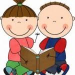 Crianças com livro