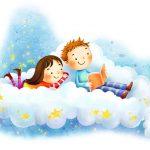 crianças lendo um livro