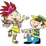 crianças no samba