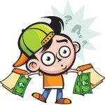 criança achando dinheiro